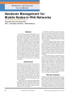 Handover management for mobile nodes in IPv6 networks. - CiteSeerX