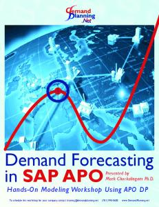Forecasting with SAP® APO DP? - MAFIADOC COM