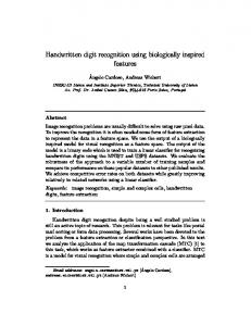 Handwritten digit recognition using biologically inspired features