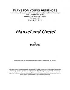 Hansel and Gretel - Plays for Young Audiences