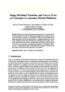 Happy Birthday! Emotions and Cues to Trust on ...