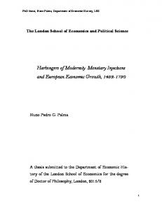 Harbingers of Modernity: Monetary Injections and European Economic ...