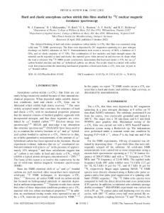 Hard and elastic amorphous carbon nitride thin films studied ... - Physics