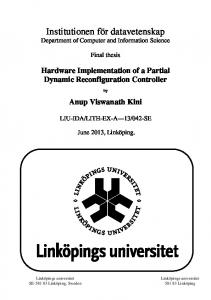 Hardware Implementation of a Partial Dynamic Reconfiguration ...