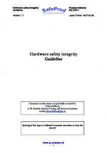 Hardware safety integrity Guideline - SP