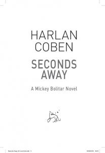 HARLAN COBEN SecondS AwAy - Orion Books