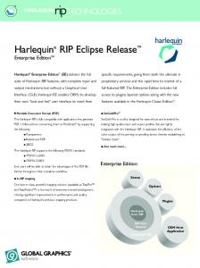 Harlequin RIP Eclipse Release, Enterprise Edition - Gimaex