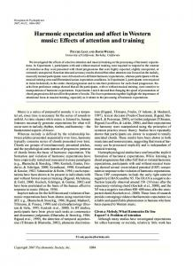 Harmonic expectation and affect in Western music ... - Semantic Scholar