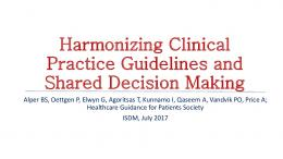 Harmonizing Clinical Practice Guidelines and Shared ...