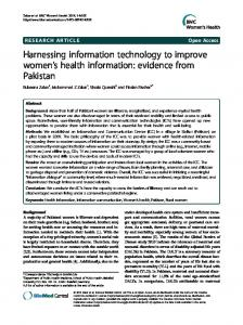 Harnessing information technology to improve