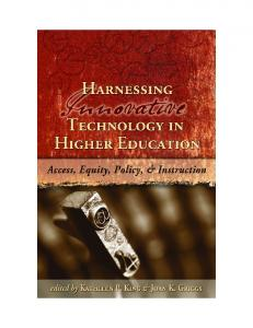 Harnessing Innovative Technologies in Higher Education: Access ...