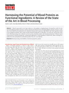 Harnessing the Potential of Blood Proteins as ... - Wiley Online Library