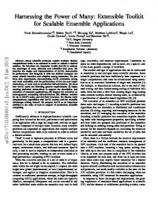 Harnessing the Power of Many: Extensible Toolkit for Scalable ... - arXiv