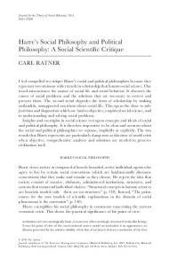 Harre's Social Philosophy and Political Philosophy: A Social ... - Sonic