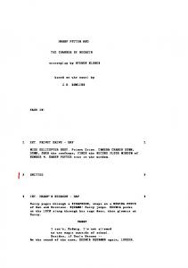 HARRY POTTER AND THE CHAMBER OF SECRETS screenplay ...