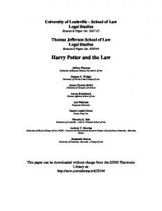 Harry Potter and the Law