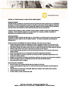 HARTING Job Posting - Quality Engineer