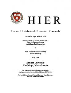 Harvard Institute of Economic Research - SSRN papers