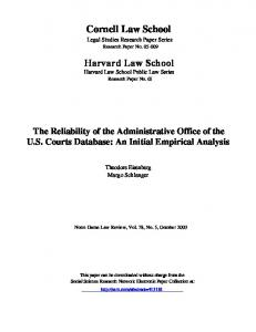 Harvard Law School Cornell Law School - SSRN papers