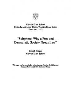 Harvard Law School - SSRN papers