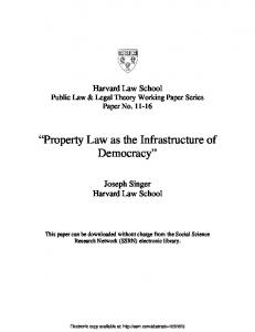 Harvard Law School - SSRN