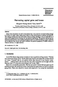 Harvesting capital gains and losses - Pomona College