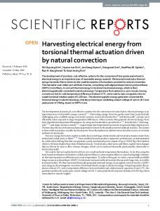 Harvesting electrical energy from torsional thermal ...