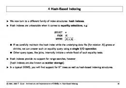 Hash-Based Indexing