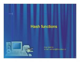 Hash functions are