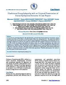 Hashimoto Encephalopathy with an Unusual ... - Semantic Scholar