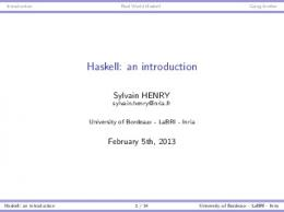 Haskell: an introduction