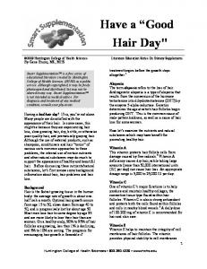 "Have a ""Good Hair Day"""