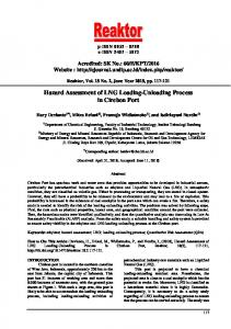 Hazard Assessment of LNG Loading-Unloading ... - E-journal UNDIP