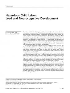 Hazardous Child Labor: Lead and Neurocognitive ... - SAGE Journals