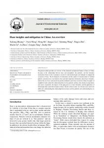 Haze insights and mitigation in China: An overview - Semantic Scholar