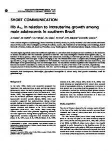 Hb A1c in relation to intrauterine growth among male ... - Nature