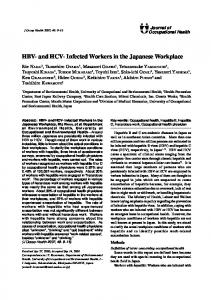 HBV- and HCV- Infected Workers in the Japanese ... - Semantic Scholar