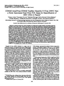 HBV - Journal of Clinical Microbiology - American Society for ...