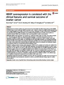 HBXIP overexpression is correlated with the clinical features and ...