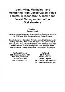 HCVF Toolkit for Indonesia - HCV Resource Network