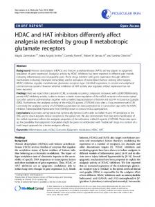 HDAC and HAT inhibitors differently affect