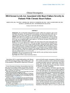 HE4 Serum Levels are Associated with Heart Failure Severity in ...