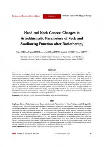 Head and Neck Cancer - International Journal of Hematology and ...