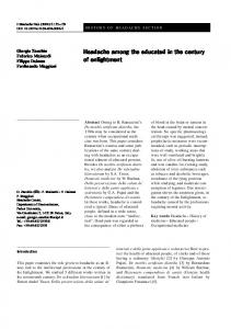 Headache among the educated in the century of ... - Springer Link
