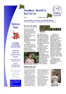 Headway Monthly Bulletin Christmas Party