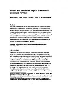Health and Economic Impact of Wildfires: Literature Review