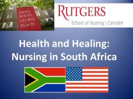 Health and Healing: Nursing in South Africa