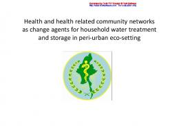 Health and health related community networks as ...