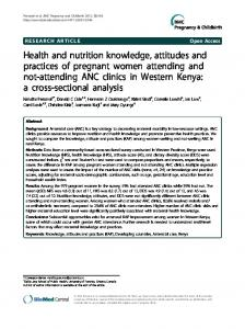 Health and nutrition knowledge, attitudes and ... - BioMedSearch