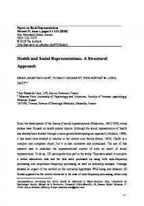 Health and Social Representations: A Structural Approach